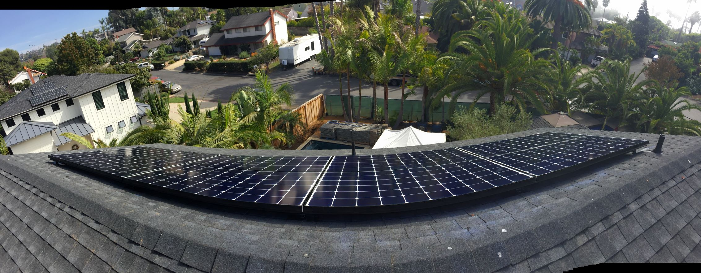 Solar installed in the beautiful, North County coastal city of Encinitas. Located approximately 25 miles north of San Diego, Encinitas has a reputation as a surf and flower capitol. Solar modules are a natural addition for a city that calls for sustainable clean energy.