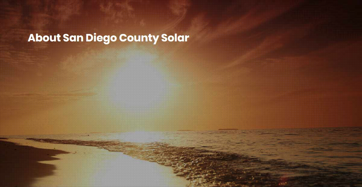san diego county solar about